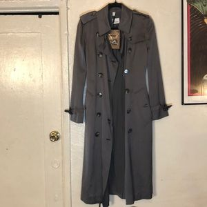 Boscastle Silk Double Breasted Trench Coat